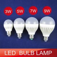 6pcs/lot new design LED bulb light 3w 5w 7w 9w bulb lamp  livingroom bedroom energy saving light  warm white/cold white