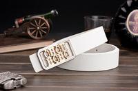 Korean men , Ms. belt buckle belt Smooth leather belt genuine factory direct letters customized A167