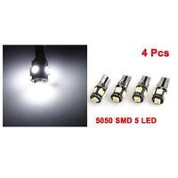 View large image 4 Pcs T10 W5W Canbus Wedge 5050 5-SMD LED Light Bulb Lamp White 12V