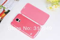 High Quality  Soft TPU Gel Wrap-Up Touch Flip Case Cover for Samsung Galaxy S5 i9600 G900 Free Shipping DHL CPAM HKPAM