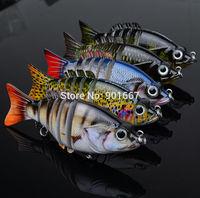 "5pc/lot New 2014 Proberos 6 Sections Fishing Lure 10.3cm/4.1"" 0.73oz/20.7g Swimbait Fishing bait 6# Black Hook Fishing Tackle"