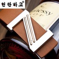 Korean men , Ms. belt buckle belt Smooth leather belt genuine factory direct letters customized A156