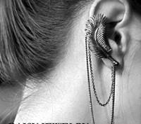 E-012  new 2014 free shipping  western style cool earrings  fashion female  Leaves ear clip feather women girls clip earring