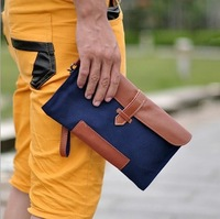 2014 male canvas day clutch bag  wallet small bag small paper bag envelope bag