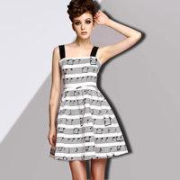 2014 summer fashion strapless print spaghetti strap one-piece dress