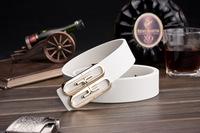 Korean men's leather belt , Ms. belt buckle smooth buckle genuine leather belt factory custom letters A151