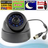 """Free shipping 1/3"""" 1200TVL 24 IR Blue Leds Dome camera SONY IMX138 sensor + FH 8520 DSP Indoor CCTV Camera + OSD Menu"""