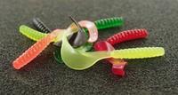 Free shipping 50pcs Soft bait faggot luminous fishing lure soft lure to be bait bionic silica gel lure
