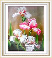 Free shipping DIY diamond painting Retail 59*71CM 3Dsquare resin diamond crossstitch  full embroidery  Iris