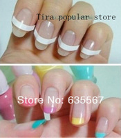 10 Packs  ( 51pcs/pack ) New Arrival French Manicure Stick Smile Line Nail Art Accessories Nail Polish Partner For Beauty Girls