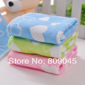 soft beach baby bath hand towel microfier+25x25cm+Baby drool towel Soft water children small towel 2Pcs  Tw19