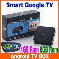 XBMC preinstalled Android 4.2.2 TV set top box Google Amlogic 8726-MX Cortex A9 Dual core 1.5GHz 1GB/ 8GB M6 EM6 Media Player