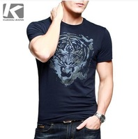 Hot Sale, Men's Brand Casual Cotton Short T Shirt, Fashion Slim-fit Printing Summer T shirt, High Quality