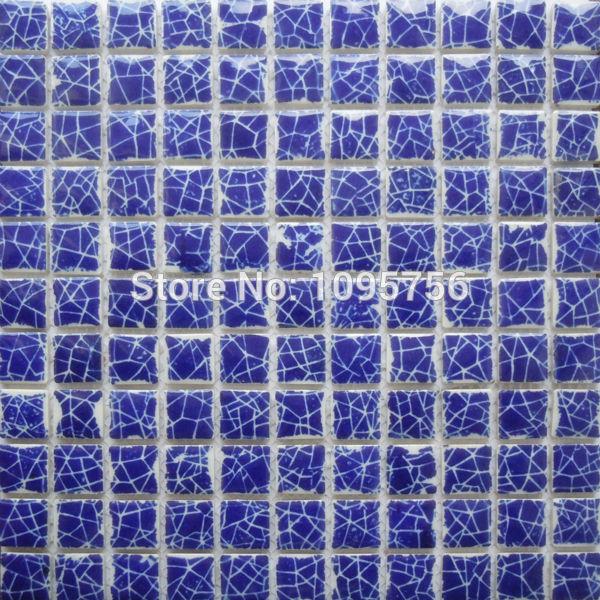 Azul e branco da porcelana mosaico banheiro telha da parede grátis frete NL093(China (Mainland))