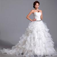 Sweet vintage bandage tube top princess bride 2013 train winter wedding dress formal dress 2081