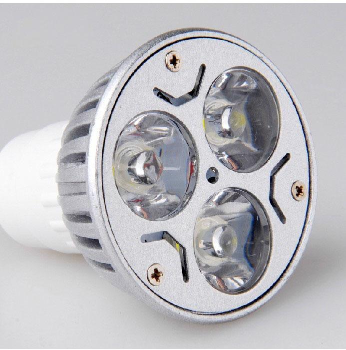 AC85-265V GU10 3 * 1W high power energy saving lamp, 3w led bulbs, LED spotlights light sources, led lamps cup(China (Mainland))