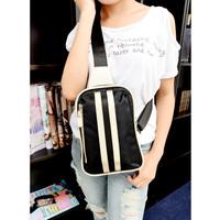 2014 chest pack fashion bag casual street popular bag small stripe trend messenger bag