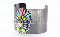 2014 New Arrival Fashion Bangle Jewelry Hot Wholesale Metal luxury sparkling crystal temperament smooth opening Bracelet