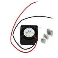 2010S Micro cooling fan DC 5V 0.1A 20mm for Raspberry Pi Board /w heat sink