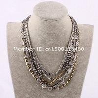 fashion hot sell statement cheap collar tassel necklace715