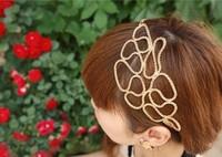 Korean fashion Flower Fine openwork ribbon hair bands  T00064