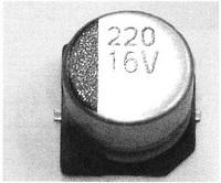 Chip aluminum electrolytic capacitor