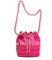 2014 new Europe and America popular sheepskin female messenge bag famous bucket bag free shipping B-134
