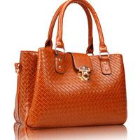 2014 women's fashion handbag mother bag women's handbag shoulder bag check PU patent leather bag