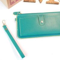 Zipper wallet medium-long female clutch women's lather-bag day clutch bag wallet card bag