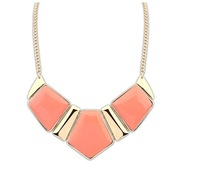 luxury European and American fashion evening party high metal base geometry Necklace free shipping