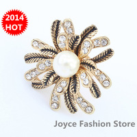 Min. Order $10,Fashion Rings Jewelry,Korea style Vintage Finger the Ring,Gold Plated Bohemia pearl Rings,women Accessories,R73
