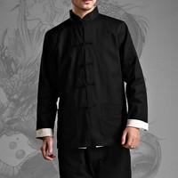 Bruce Lee Wing Chun Both Sides Wear Jacket The Martial Arts Uniform Kung Fu Long Jersey + Linen Bottoming Shirt Free Shipping