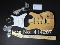 A29 free shipping strat electric guitar kits  HSH style alder wood tremolo guitar kits