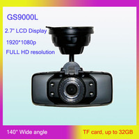 Original GS9000L Car Vehicle Black Box Camera Recorder DVR NOVATEK Chipset 1080P 2.7' LCD 140 Degree Lens G-Sensor GS9000