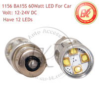 LED Car Fog Light Bulb 60W Osram LEDs 1156 1157 12V 24V DC Xenon White Red Blue Yellow LED Vehicles Car Fog Bulbs