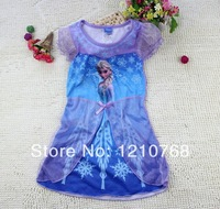Frozee Dress Frozee Elsa Princess Dress Short-Sleeve Long Dress for 2-10age Kids USD4.7/pcs Frozen Costumes
