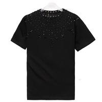 Giv brand stars decorate 2014 summer brand men's short sleeve shirt fashion Round neck t-shirt cotton casual tshirt hiphop FS168