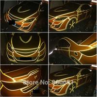 Wholesale 1.0cm*47.5m/pcs 3M car reflective sticker tape for full car styling,car DIY sticker Decoration