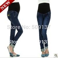 Spring, Autumn Maternity Clothes Pregnant Women Fashion Hemming Jeans WJ89