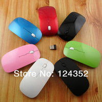 2.4GHz Wireless optical mouse Cordless Scroll Computer PC Mice with USB Dongle various color gaming mice 10m range free shipping