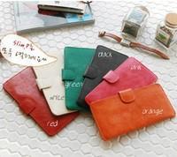 2014 quality fabric long design ultra-thin brief fashion card holder wallet