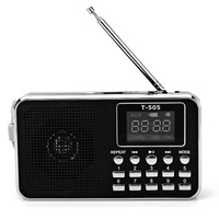 40% OFF! Universal Home Stereo Speaker Mini Portable Radio,TF Card Speaker FM Radio Digital Speaker with LED Screen