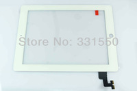 Free shipping New Touch Panel Glass Digitizer Screen Replacement Parts for Tablet iPad 2 2nd Gen White