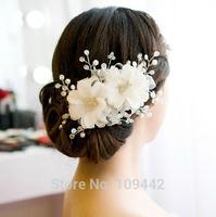 Pearl Crystal Handmade Hairwear Wedding Bride Flower Headband Bridal Hair Accessories GHJ006