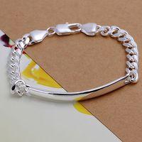 Free Shipping Fashion 925 Silver Bracelet Jewelry ! Luxury Women Men Trendy 7mm Curb Chains Bracelets H171