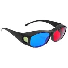 Azul vermelho óculos 3D Movie DVD jogos Dimensional resina plástica armação lente Dimensional anaglífico(China (Mainland))