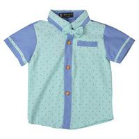 Boys Summer Tops 2014 New Gentlemen Shirts Short Sleeved Dots Tees,FREE SHIPIING K6523