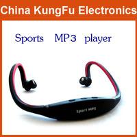 2014 new 1 pcs Sport MP3 Music Player Wireless Handsfree Headphone Headset Micro SD/TF Card FM New Free Shipping