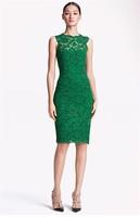 2014 New Lace Summer Dress  Sleeveless Lace Dress Knee-Length