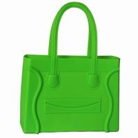New arrival silica gel smiley tote shopping bag fashion female bags handbag